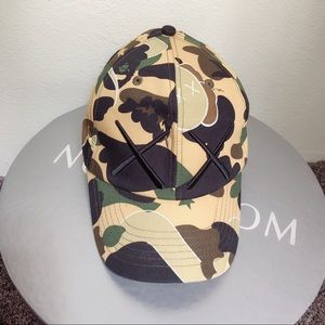 Bape x KAWS camo fitted hat